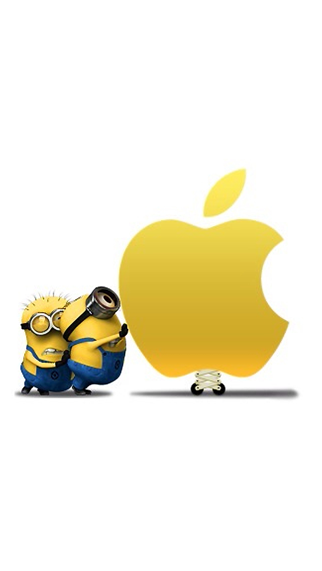 Minion Vs Apple - The iPhone Wallpapers