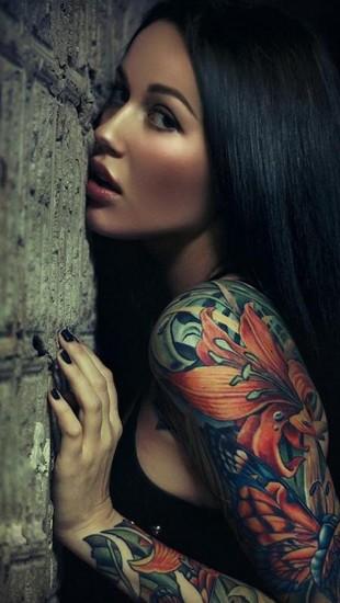 Sexy Sleeve Tattoo Girl