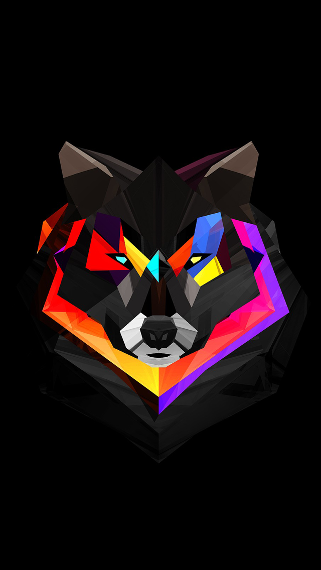 Techno Wolf - The iPhone Wallpapers