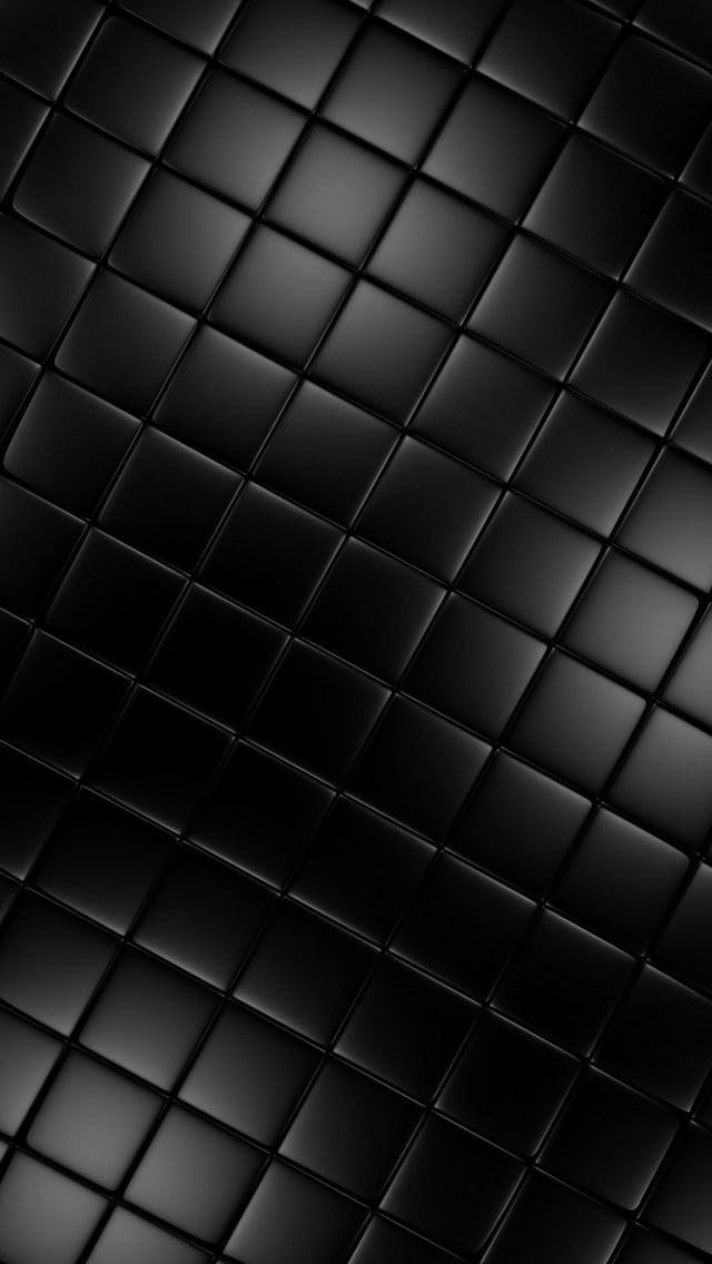 Tile the iphone wallpapers for Black 3d tiles wallpaper