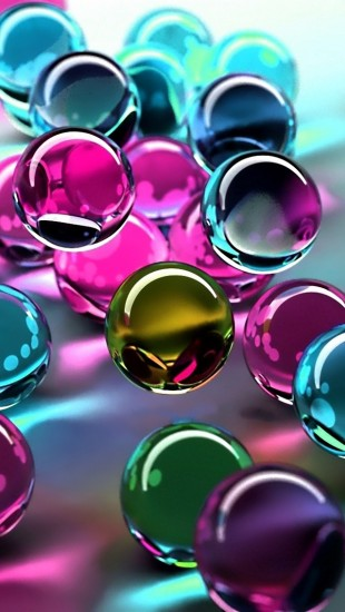 3D colorful glass balls