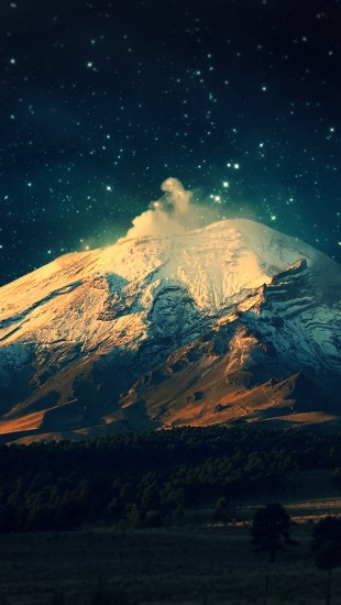 Beautiful Mountain at Night