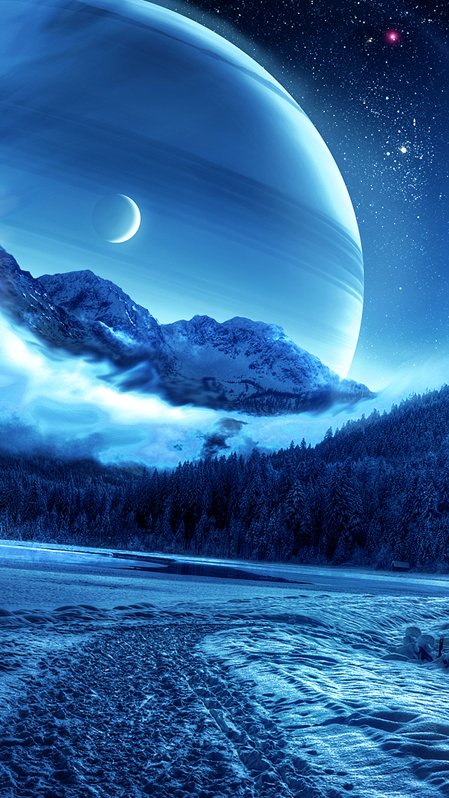 The Iphone Wallpapers Forest Winter Planet