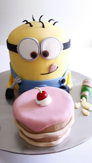Minion Happy Birthday Cake