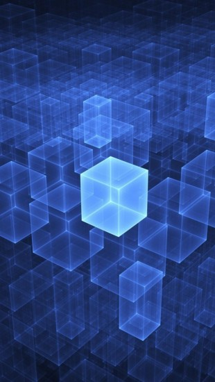 Rendered Blue Cubes