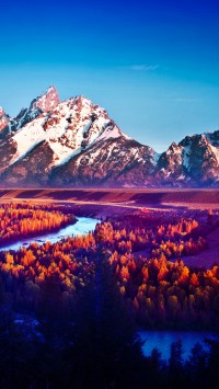 Snake river Mountain Landscape