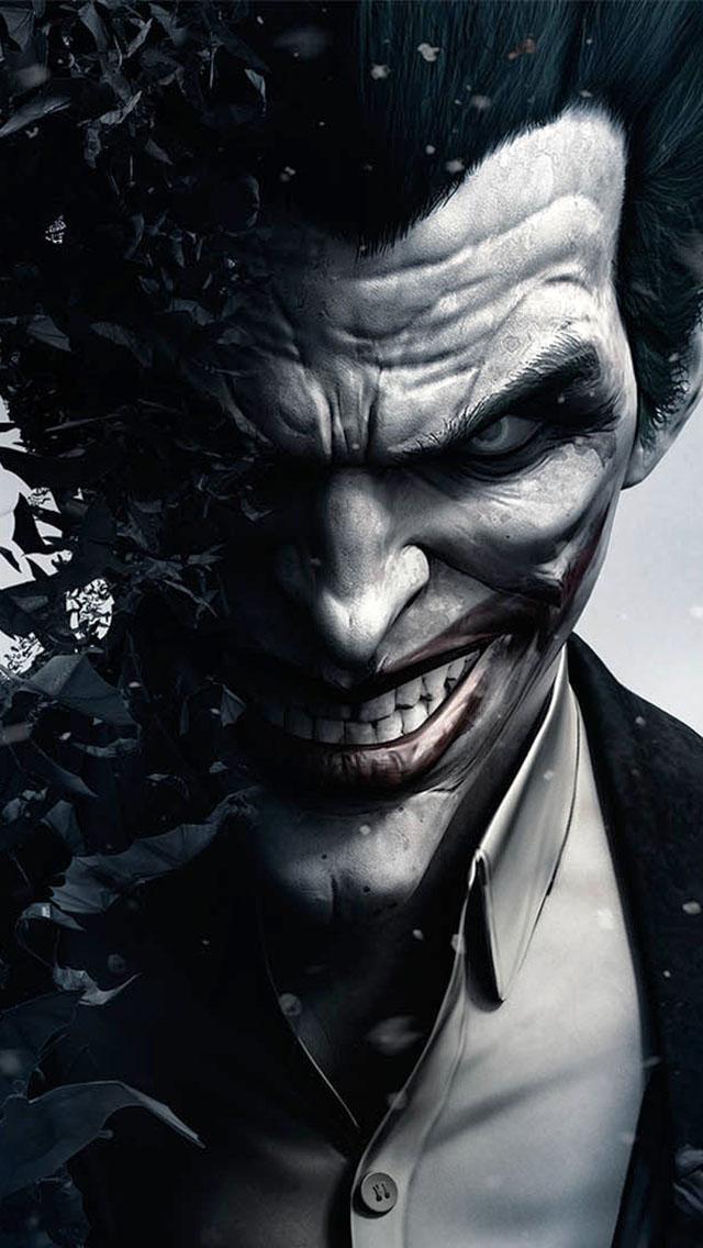 Joker in Batman Arkham Origins - The iPhone Wallpapers