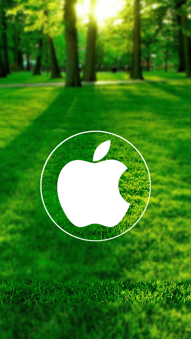 Nature Circle Apple Logo The Iphone Wallpapers