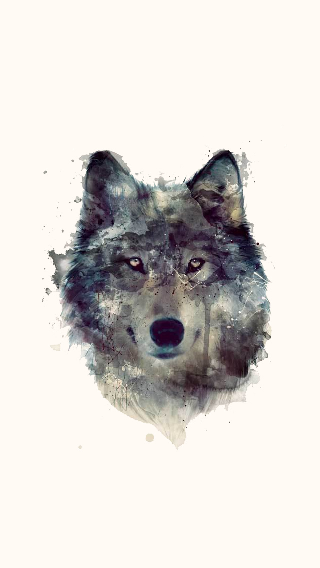 The iPhone Wallpapers » Wolf Artwork