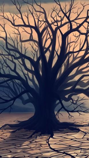 Deserts lone tree