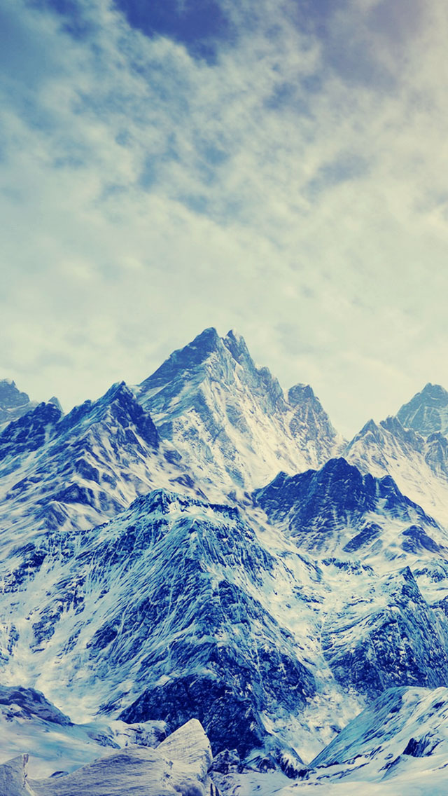 Ice and Snow Mountains - The iPhone Wallpapers