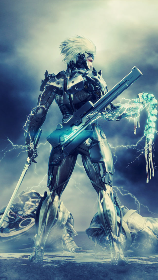 metal gear solid rising the iphone wallpapers