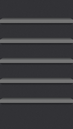 iPhone 5 iOS7 Dark Shelf