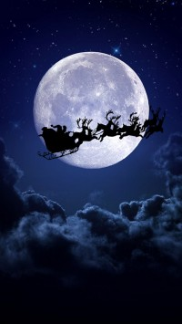 Christmas Night Moon