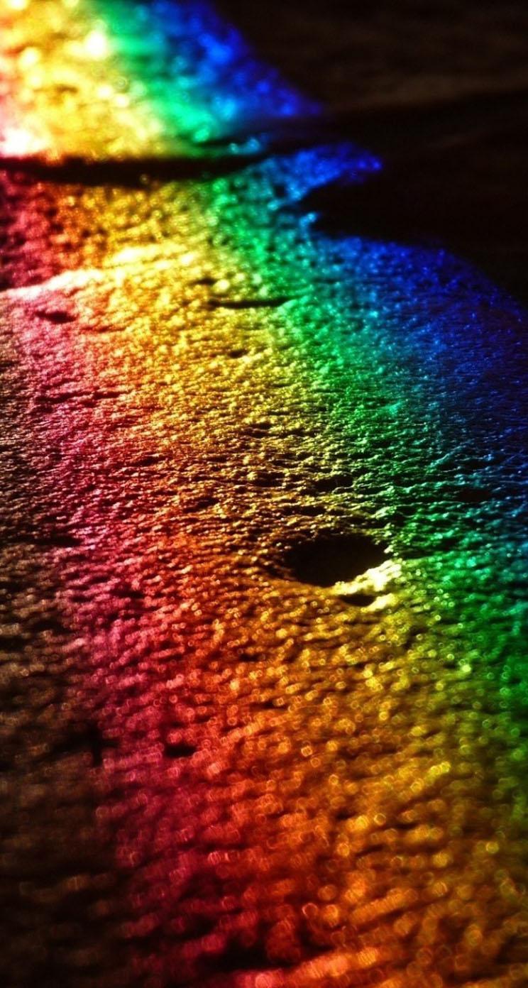 The Iphone Wallpapers Dark Rainbow