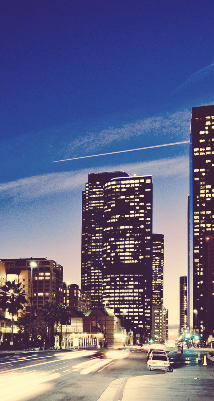 The Iphone Wallpapers Los Angeles Sunset Cityscapes