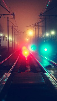 Night Lights Railroads