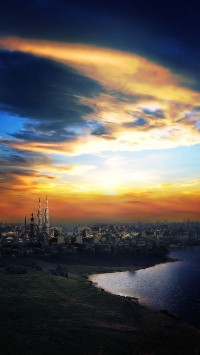 Islam Mosque City Sunset