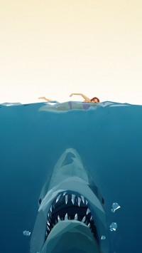 Jaws Poster Polygon Art