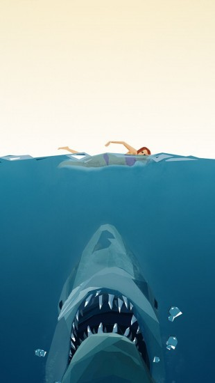 Jaws Poster Polygon Art