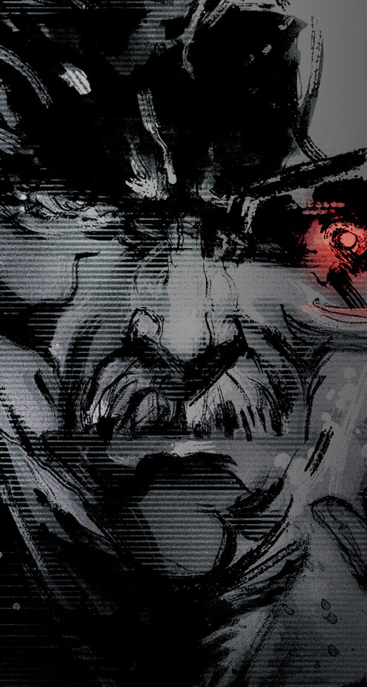 metal gear solid 4 - the iphone wallpapers