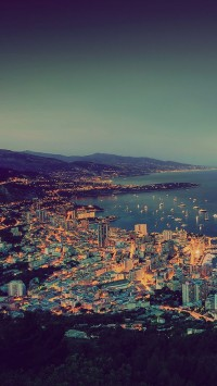 Night Monaco cityscapes