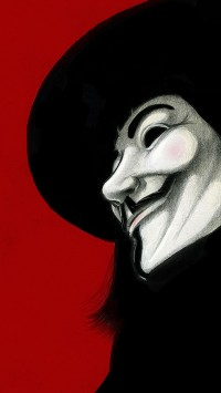 V for Vendetta red background