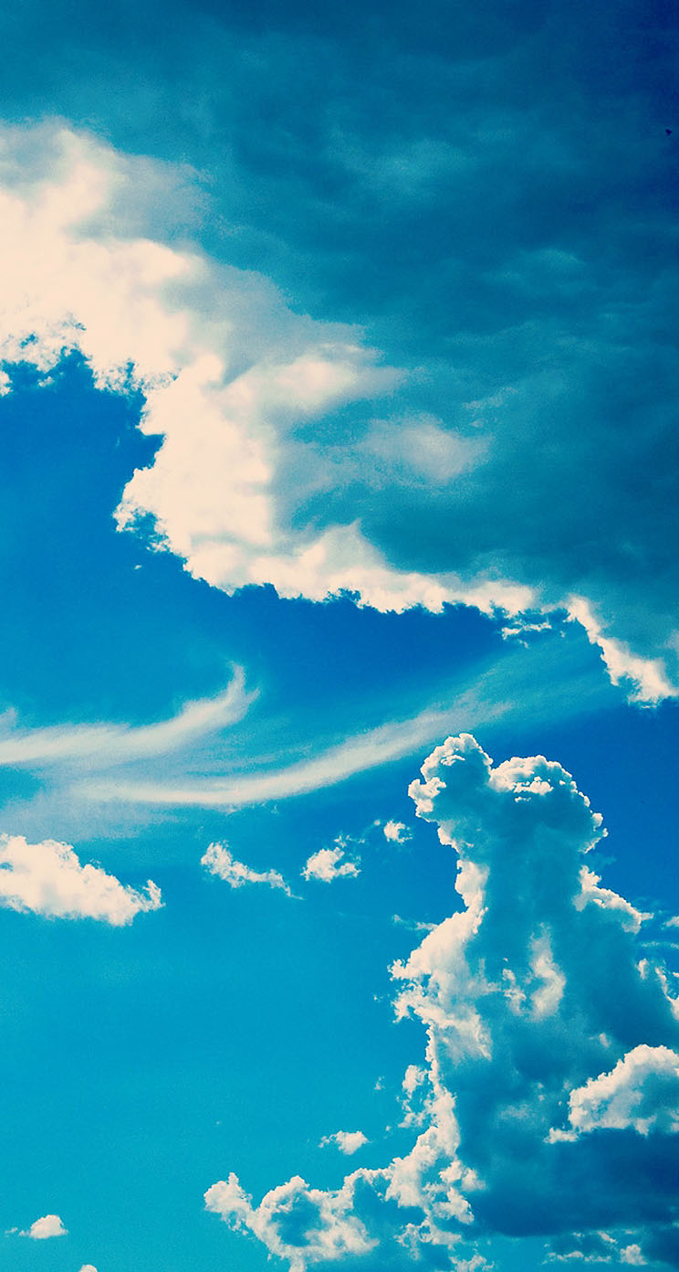 Sapphire sky the iphone wallpapers - Sapphire wallpaper ...