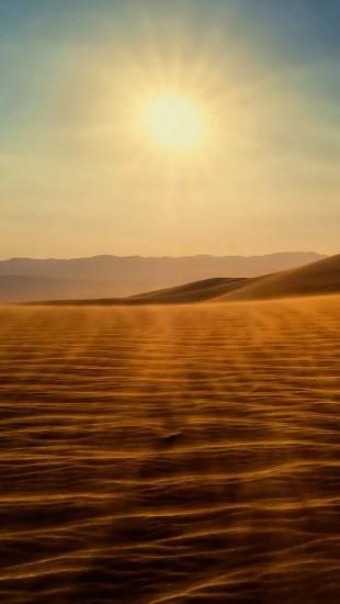 Gold desert into the sunset