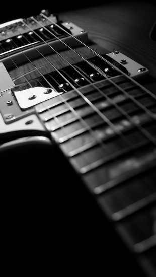 Gibson Guitar Black and White