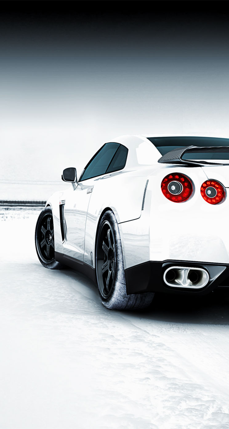 nissan gtr snowy field the iphone wallpapers