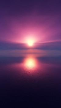 Purple Blur Sunset