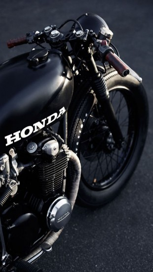 Black Honda cafe racer