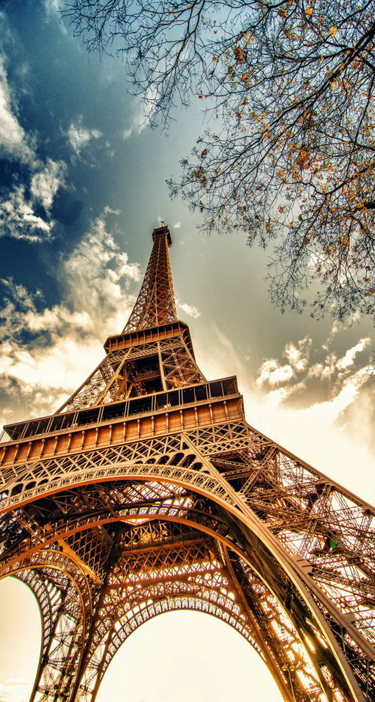 Paris eiffel tower the iphone wallpapers for Parigi wallpaper