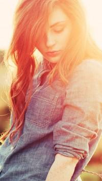 Redhead Girl Fence Bokeh
