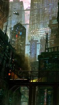 Sci Fi City Scene