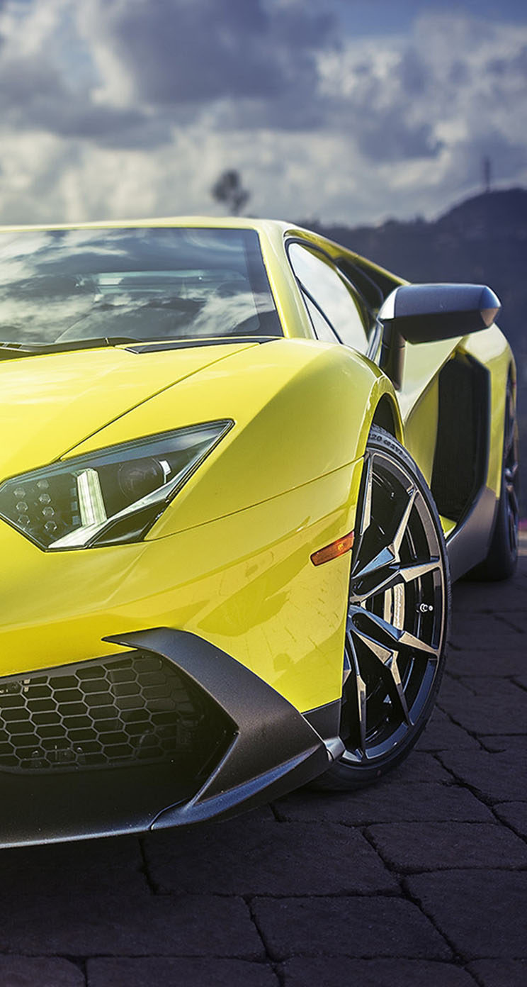 Yellow Lamborghini Aventador Supercar The Iphone Wallpapers