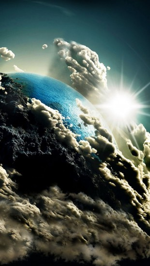 Earth in Clouds