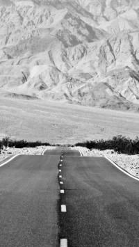 Black and white Landscape road