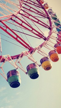 Happy Ferris Wheel Macro