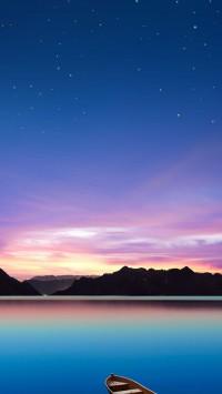 Wonderful Lake At Sunset