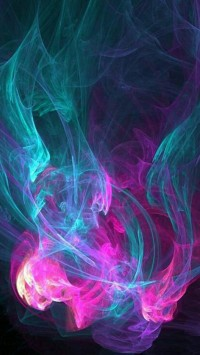 Color Abstract Smoke Pattern