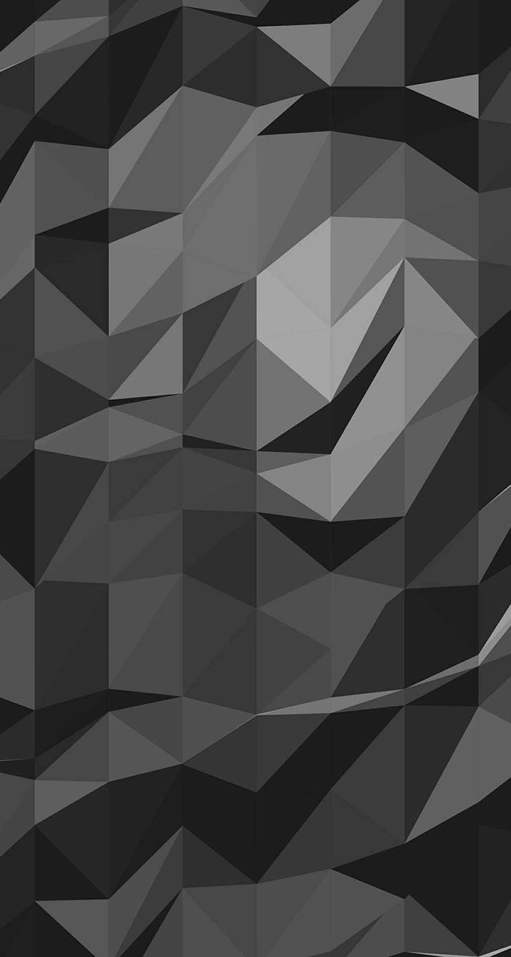 The Iphone Wallpapers Low Polygon Gray