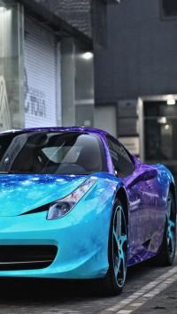 Galaxy print Ferrari