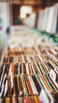 Music record store