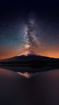 Milky Way On Mount Fuji