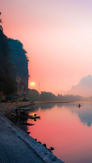 Morning Fishing at Li River
