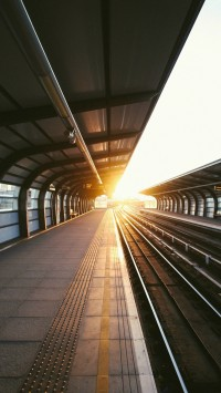 Train Station Sunset Sunlight City View