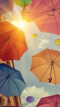 Umbrellas sky