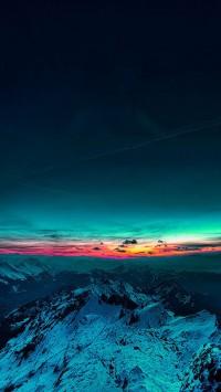 Beautiful Sunset Mountain